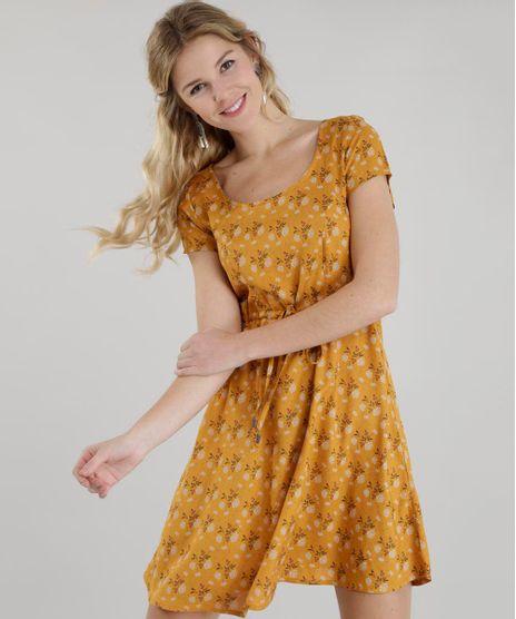 Vestido-Estampado-Floral-Amarelo-Escuro-8501285-Amarelo_Escuro_1