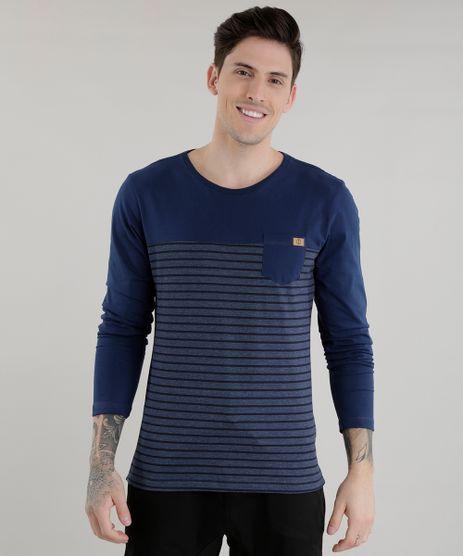 Camiseta-com-Estampa-de-Listras-Azul-Marinho-8581855-Azul_Marinho_1