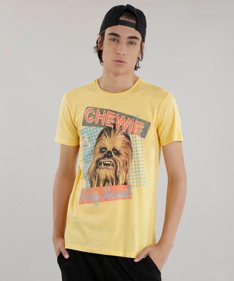 Camiseta--Chewbacca--Star-Wars-Amarela-8611794-Amarelo_1