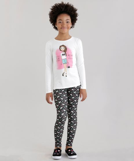 Conjunto-de-Blusa-Off-White---Calca-Legging-Estampada-de-Mascaras-Preta-8607014-Preto_1