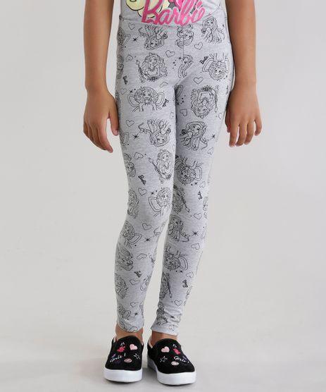 Calca-Legging-Estampada-Barbie-Cinza-Mescla-8605170-Cinza_Mescla_1
