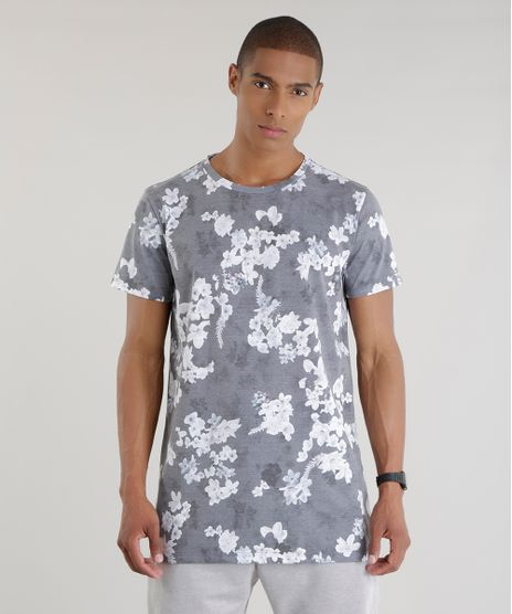 Camiseta-Longa-Estampada-Floral-Cinza-8640027-Cinza_1
