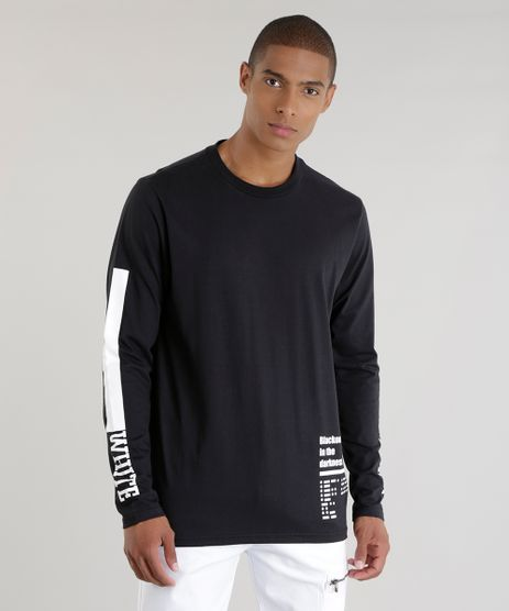 Camiseta-Longa--Blackout-Lonely--Preta-8603758-Preto_1