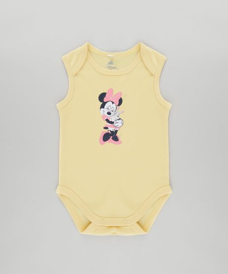 Body-Minnie-em-Algodao---Sustentavel-Amarelo-Claro-8485577-Amarelo_Claro_1