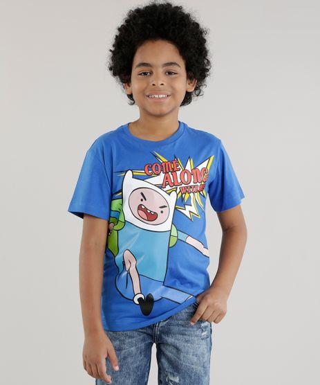 Camiseta-Hora-de-Aventura-Azul-8630146-Azul_1