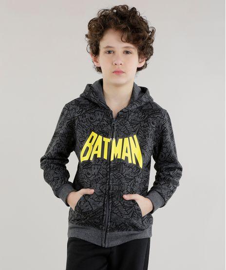 Blusao-Estampado-Batman-em-Moletom-de-Algodao---Sustentavel-Cinza-Mescla-Escuro-8470154-Cinza_Mescla_Escuro_1