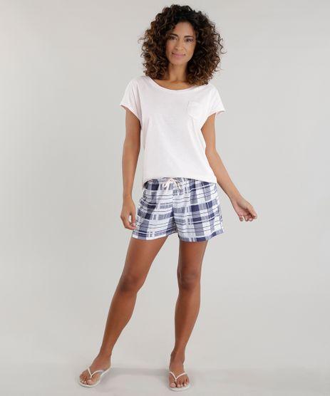 Pijama-com-Estampa-Xadrez-Rosa-Claro-8601280-Rosa_Claro_1