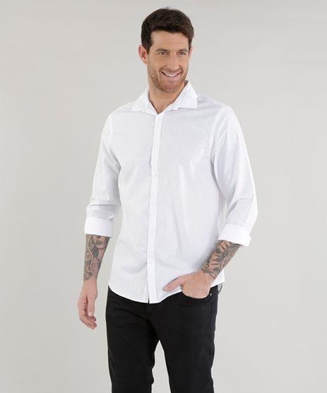 Camisa-Slim-Estampada-em-Algodao---Sustentavel-Branca-8456824-Branco_1
