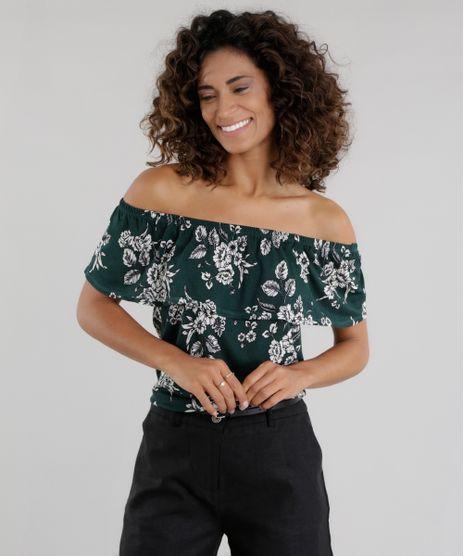 Blusa-Ombro-a-Ombro-Estampada-Floral-Verde-Escuro-8657475-Verde_Escuro_1