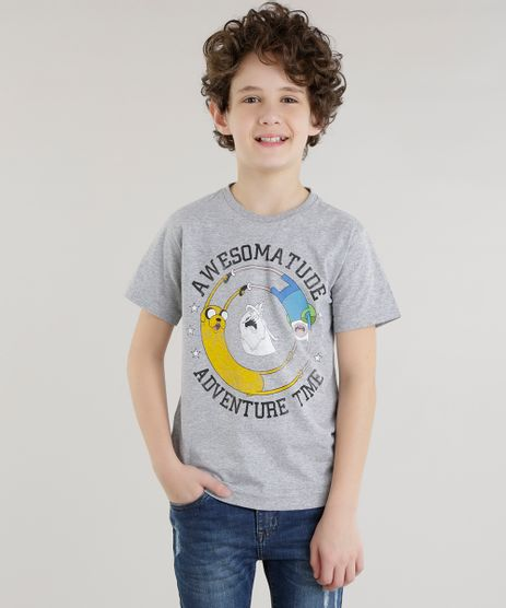 Camiseta-Hora-de-Aventura-Cinza-Mescla-8630153-Cinza_Mescla_1