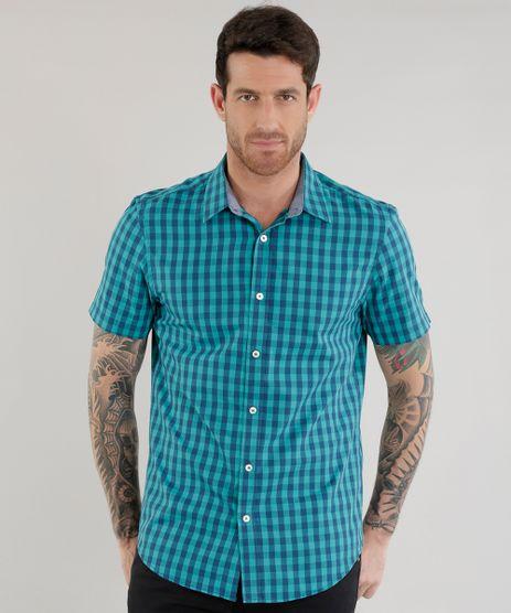 Camisa-Slim-Xadrez-em-Algodao---Sustentavel--Verde-8454839-Verde_1