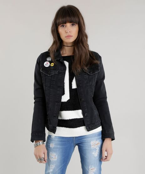 Jaqueta-Jeans-com-Bottons-Preta-8611359-Preto_1