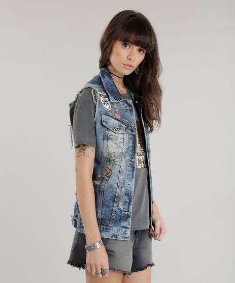 Colete-Jeans-Sawary-com-Patchs-Azul-Medio-8683166-Azul_Medio_1