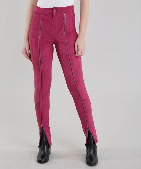 Calca-Skinny-Joulik-em-Suede-Rosa-Escuro-8558081-Rosa_Escuro_1