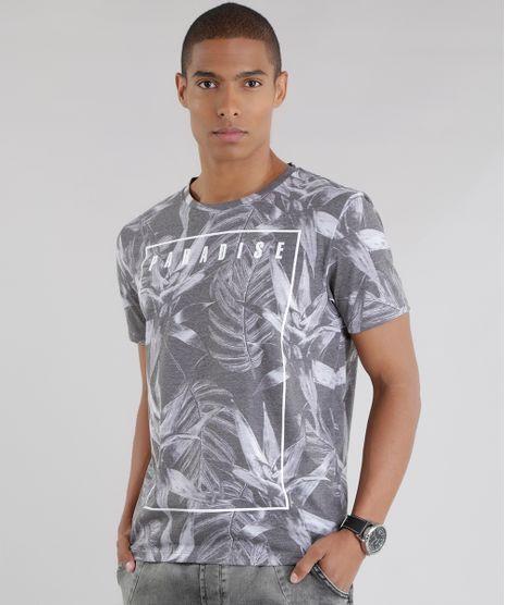 Camiseta-Estampada--Paradise--Cinza-8640034-Cinza_1