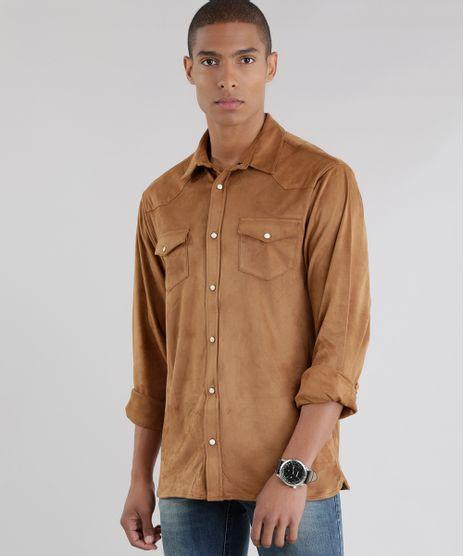 Camisa-em-Suede-Caramelo-8453083-Caramelo_1