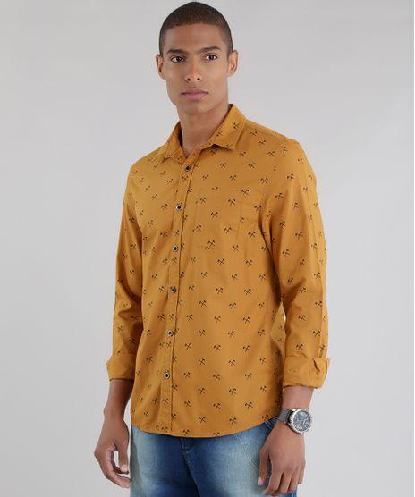 Camisa-Estampada-em-Algodao---Sustentavel-Caramelo-8448753-Caramelo_1