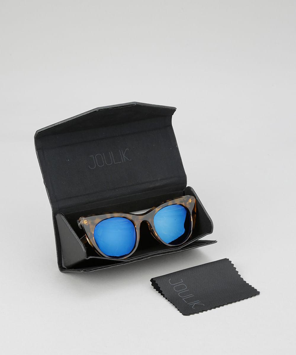 Óculos de Sol Gatinho Joulik Feminino Tartaruga - Único 359b386032
