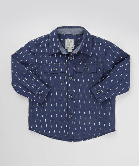 Camisa-Estampada-em-Algodao---Sustentavel-Azul-Marinho-8441590-Azul_Marinho_1