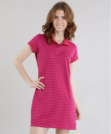 Vestido-Polo-Listrado-Rosa-Escuro-8574099-Rosa_Escuro_1