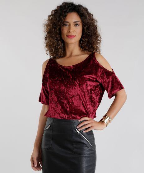 Blusa-Open-Shoulder-em-Veludo-Molhado-Vinho-8656859-Vinho_1