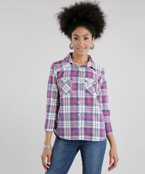 Camisa-Xadrez-com-Renda-Rosa-8640113-Rosa_1
