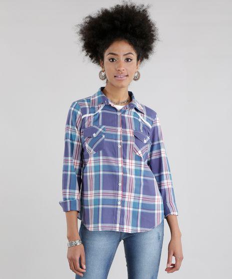 Camisa-Xadrez-com-Renda-Azul-8640113-Azul_1