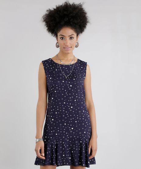 Vestido-Estampado-de-Estrelas-Azul-Marinho-8636439-Azul_Marinho_1