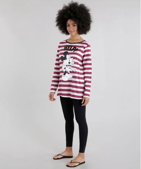 Pijama-Listrado-Mickey-Vinho-8628573-Vinho_1
