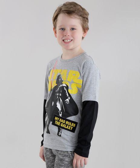 Camiseta-Star-Wars-Cinza-Mescla-8630181-Cinza_Mescla_1