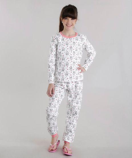 Pijama-em-Moletom-Estampado-de-Coelho-Off-White-8632026-Off_White_1