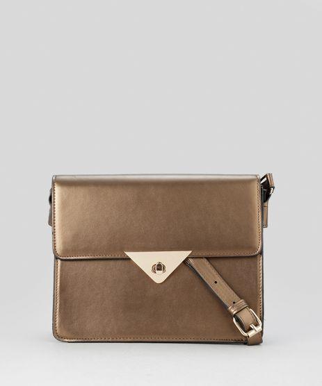 Bolsa Dourada Transversal : Bolsa em moda feminina acess?rios cea