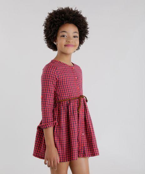 Vestido-Xadrez-com-Cinto-Vermelho-8443111-Vermelho_1