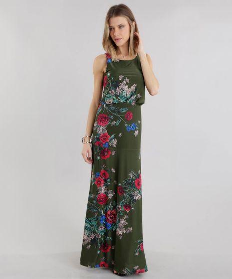 Vestido-Longo-Estampado-Floral-Verde-Militar-8653650-Verde_Militar_1