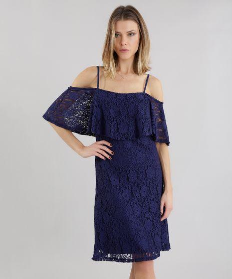 Vestido-Ombro-a-Ombro-em-Renda-Azul-Marinho-8651895-Azul_Marinho_1