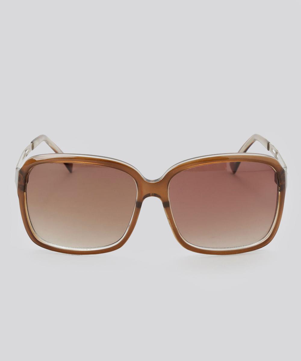 435dc267711de Óculos de Sol Quadrado Feminino Oneself Marrom - Único