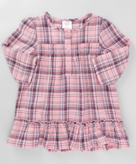 Vestido-Xadrez-com-Babado-Rosa-Claro-8447554-Rosa_Claro_1