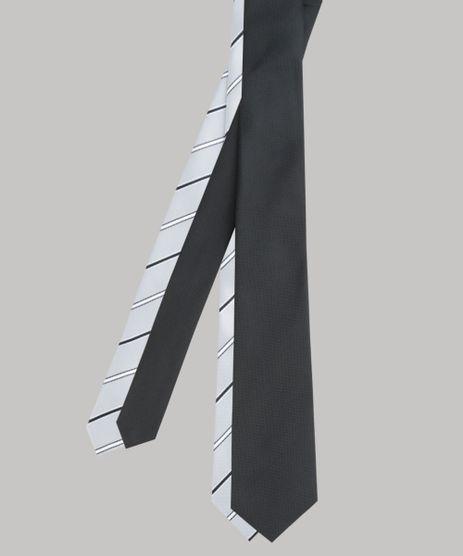 Kit-de-2-Gravatas-em-Jacquard-Multicor-8594353-Multicor_1