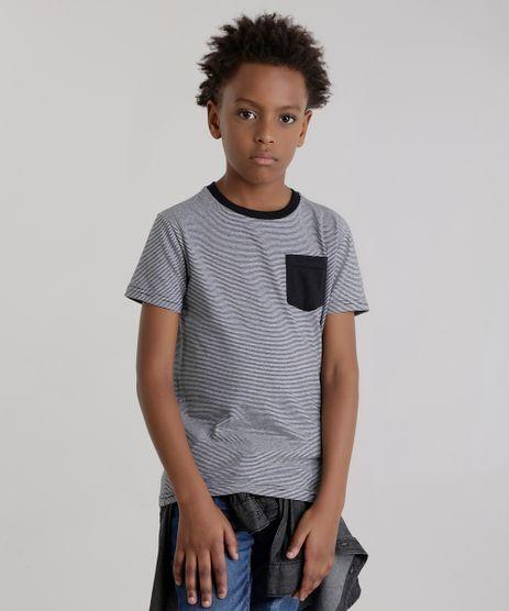 Camiseta-Listrada-com-Bolso-Preta-8630069-Preto_1