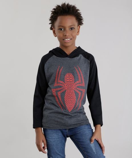 Camiseta-com-Capuz-Homem-Aranha-Cinza-Mescla-Escuro-8630103-Cinza_Mescla_Escuro_1
