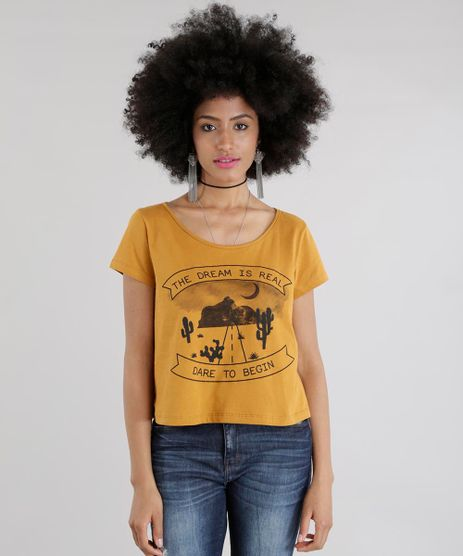 Blusa-Cropped--The-Dream-is-Real--Amarelo-Escuro-8605567-Amarelo_Escuro_1