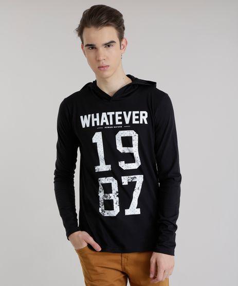 Camiseta-com-Capuz--Whatever-Human-Nature--Preta-8630450-Preto_1