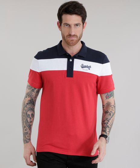 Polo-em-Piquet--Baseball--Vermelha-8526941-Vermelho_1