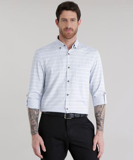 Camisa-Comfort-Listrada-em-Algodao---Sustentavel-Off-White-8584511-Off_White_1
