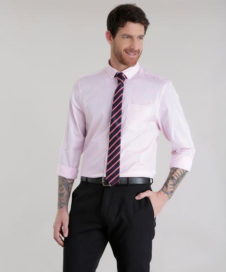 Camisa-Comfort---Gravata-em-Jacquard-Listrada-Rosa-Claro-8581620-Rosa_Claro_1