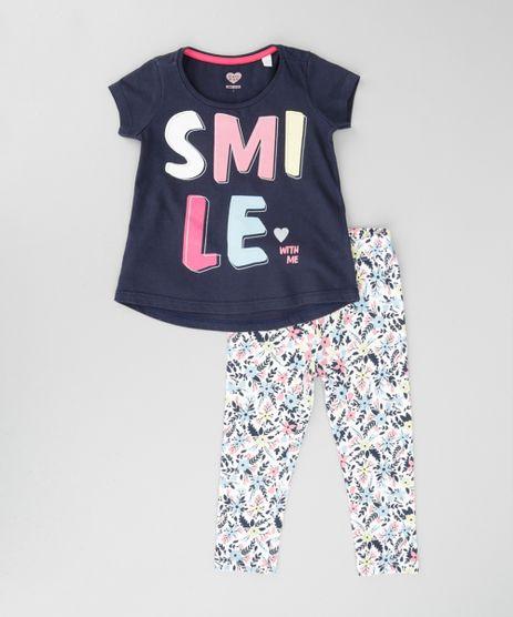Conjunto-de-Blusa--Smile--Azul-Marinho---Calca-Legging-Estampada-Off-White-8672675-Off_White_1