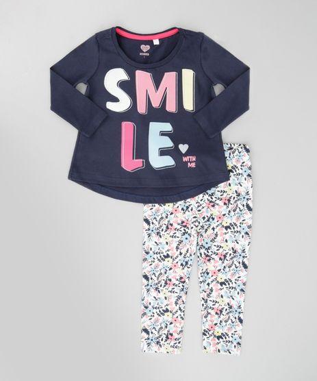 Conjunto-de-Blusa--Smile--Azul-Marinho---Calca-Legging-Estampada-Off-White-8672681-Off_White_1