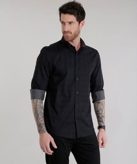 Camisa-Slim-em-Algodao---Sustentavel-Preta-8581116-Preto_1