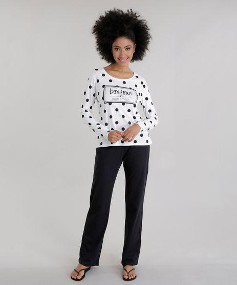 Pijama--Bon-Jour--Estampado-de-Poa--Off-White-8619768-Off_White_1