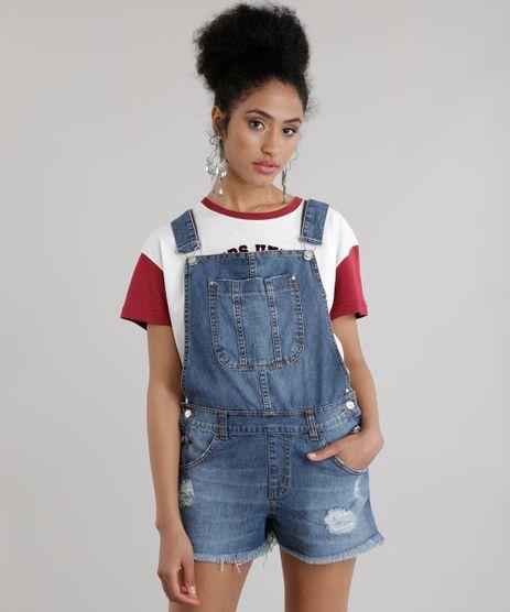 Macacao jardineira jeans feminino c a for Jardineira jeans c a